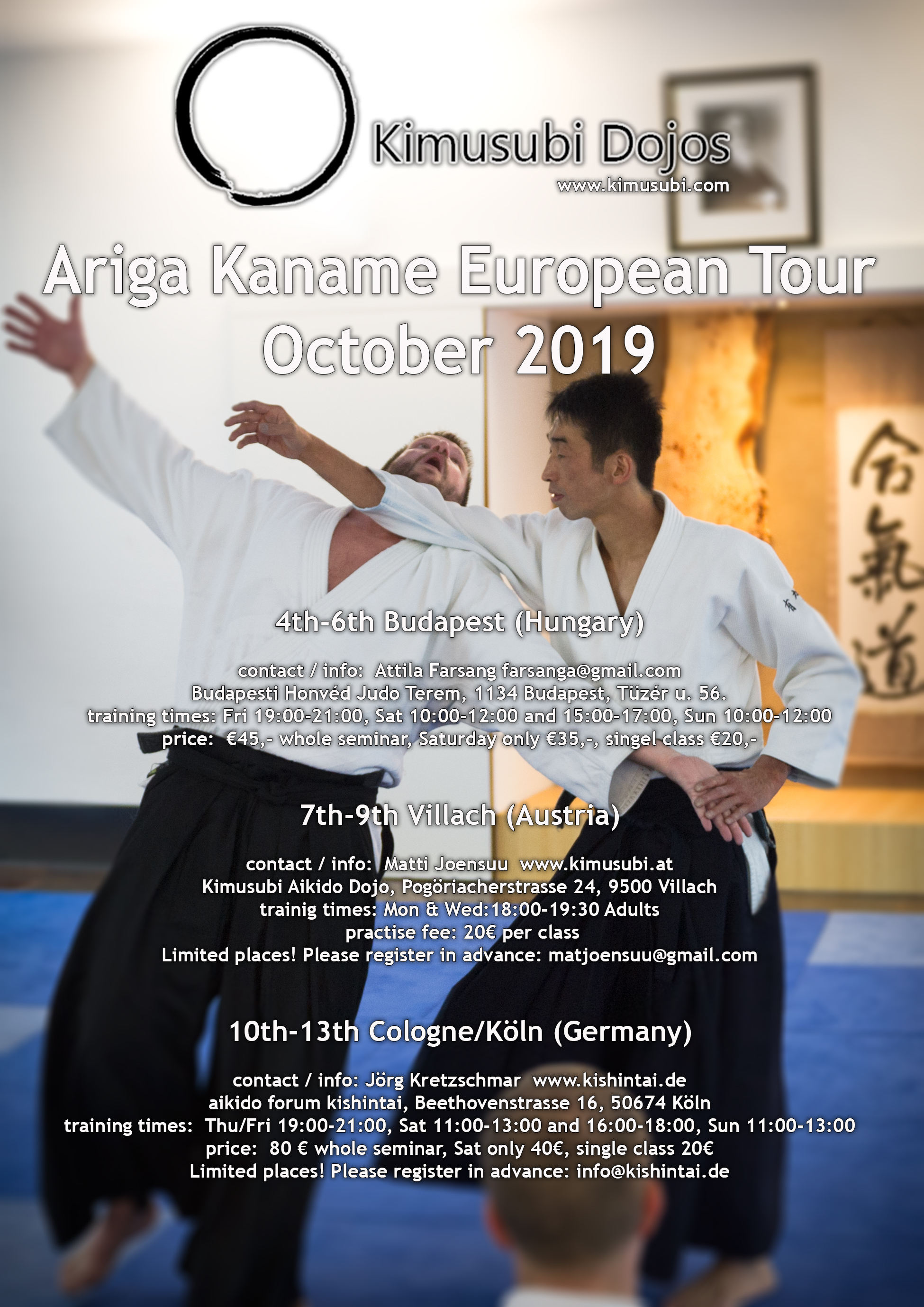 Ariga Kaname European Tour October 2019